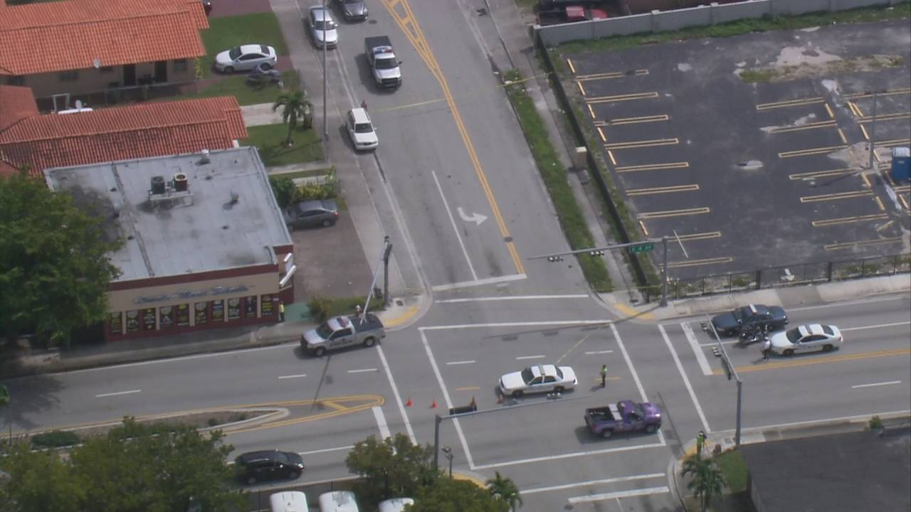 Sky 10 over Hialeah hit-and-run scene