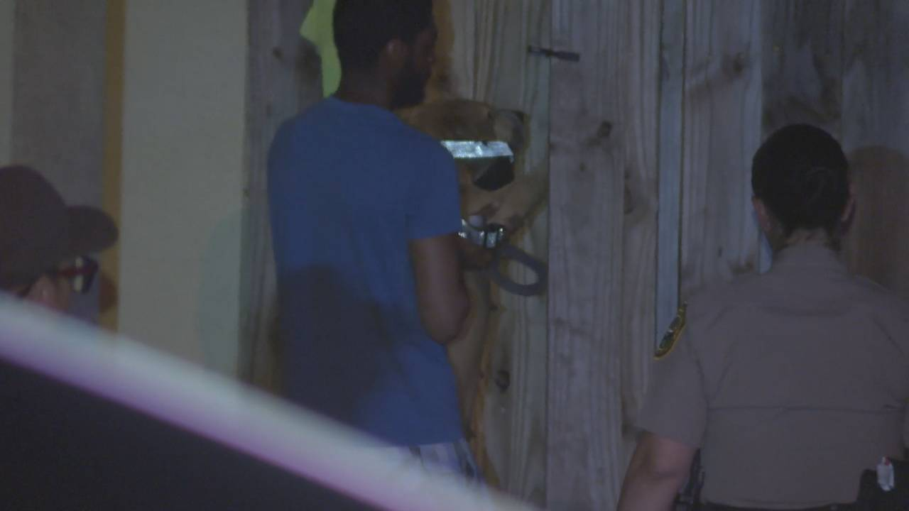 Man puts dog in back yard after attack