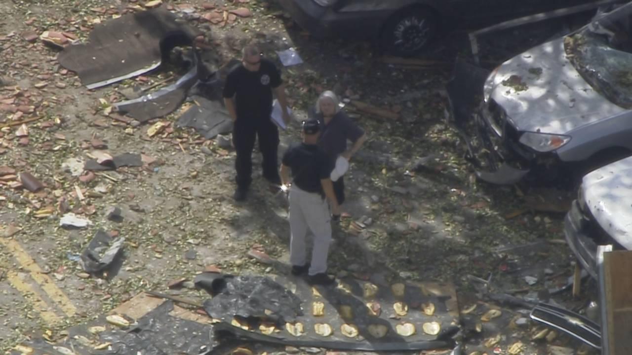 Sky 10 Plantation Mayor Lynn Stoner assesses damage day after explosion