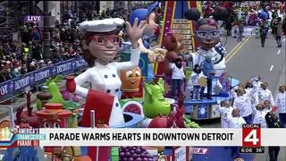 Parade warms hearts in Downtown Detroit