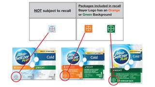 Bayer issues voluntary recall for Alka-Seltzer Plus products