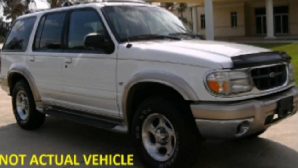 Ford Explorer sought in broward county hit-and-run