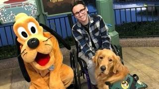 Service dog, Pluto have magical meeting at Walt Disney World