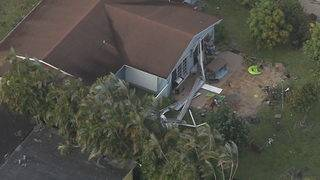 Aerial view of tornado damage in Hialeah