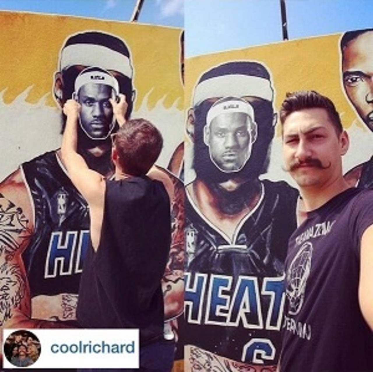 LeBron James Cutout Covers Defaced Mural_26922004