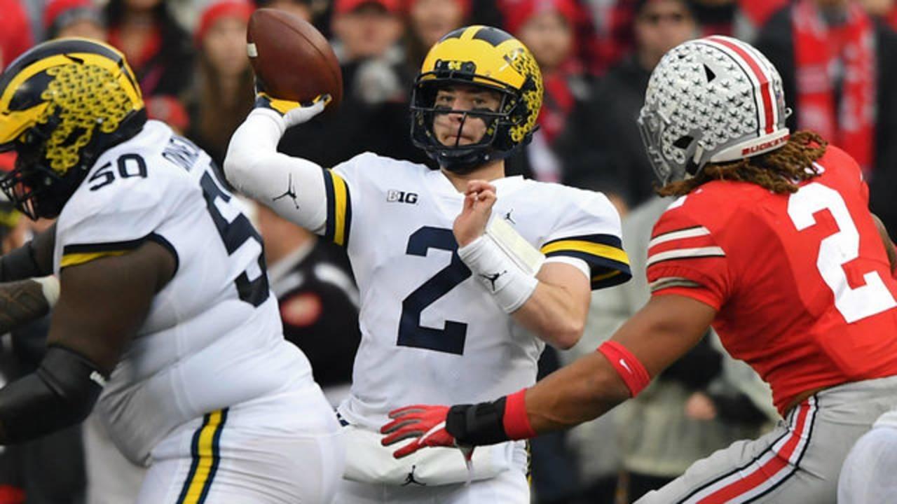 Shea Patterson Michigan football vs Ohio State 2018
