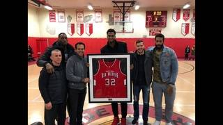 Hassan Whiteside gets high school jersey retired