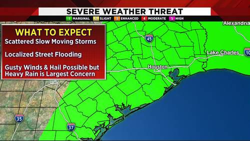 Tuesday storms could bring gusty winds, small hail for evening commute