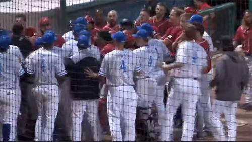 Benches clear during brawl at Sugar Land Skeeters game