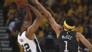 Spurs battle, but can't keep pace with Warriors in Game 2 loss