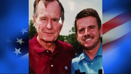 The story of when George H.W. Bush literally gave someone the shirt off his back