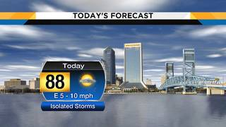 Sunshine, partly cloudy skies and a brief round of isolated showers&hellip&#x3b;