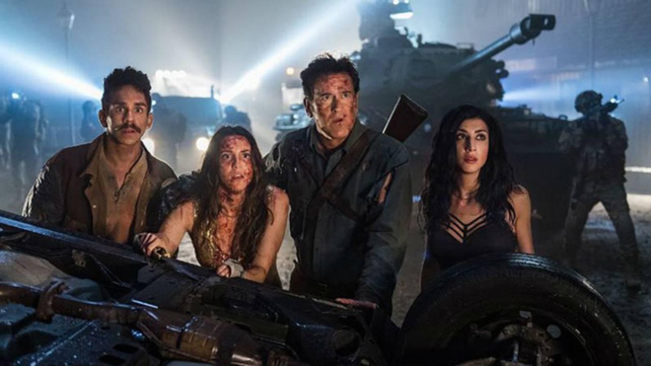 Ray Santiago Arielle Carver-O'Neill Bruce Campbell and Dana DeLorenzo in 'Ash vs Evil Dead' (photo STARZ)_1519061371524.jpg.jpg24859763
