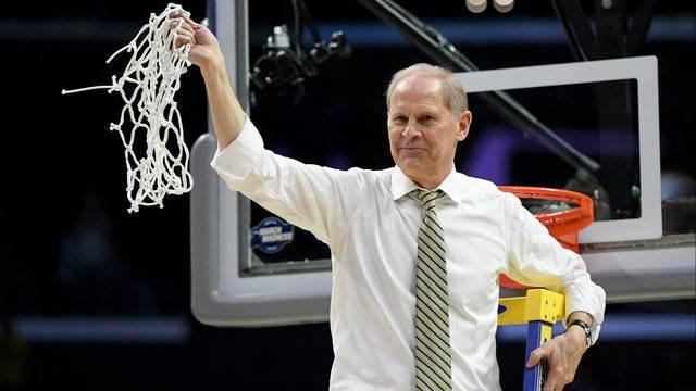 John Beilein cutting the nets 2018 Final Four Michigan basketball