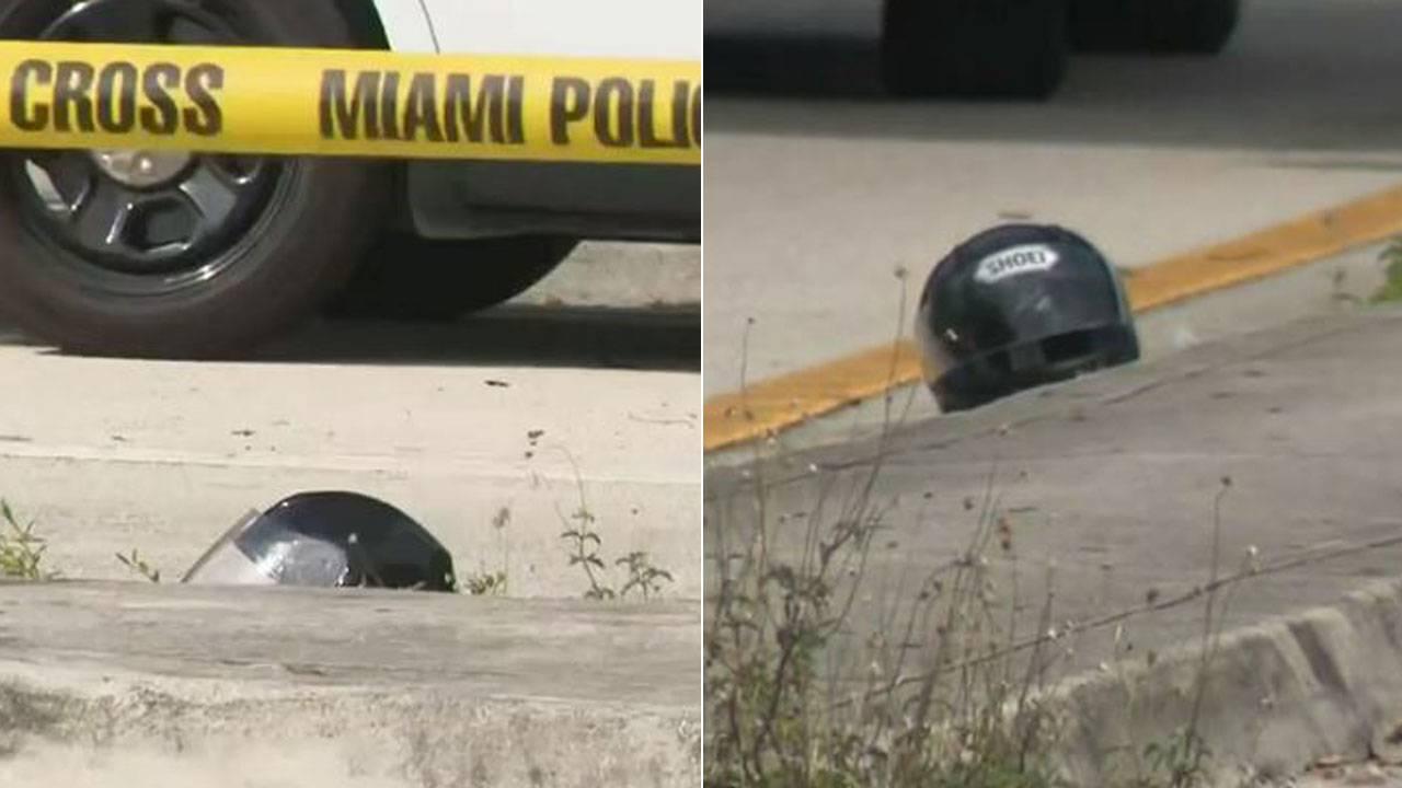 Helmet after crash