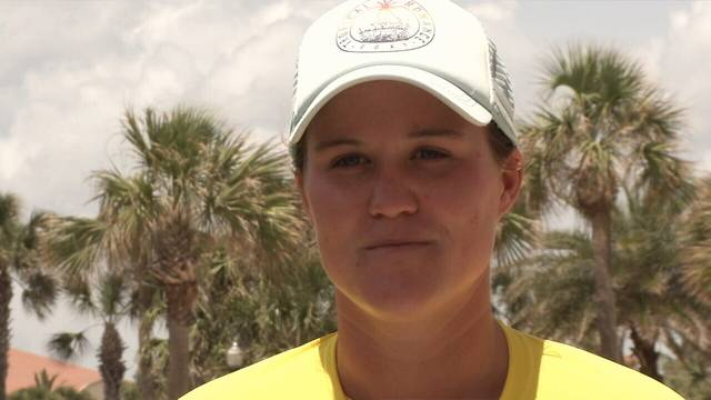 Jacksonville Beach lifeguard Kaitlin Whited