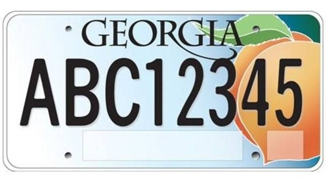 whither the sticker? georgia could peel license plate decals