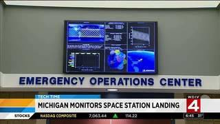 Michigan monitors space station landing