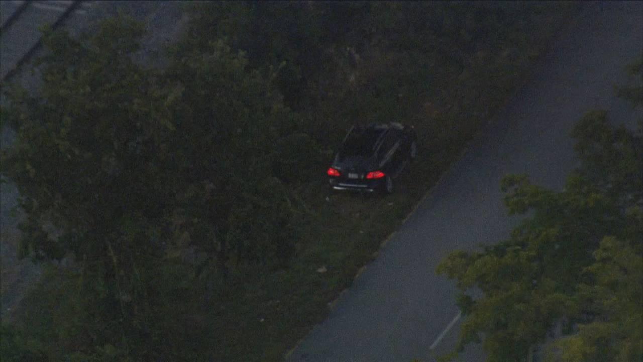 Murder suspect car from chopper