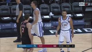 Curry scores 30, Warriors dominate Heat