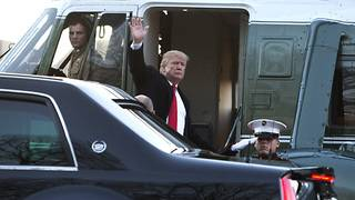 Trump set to leave DC before deadline