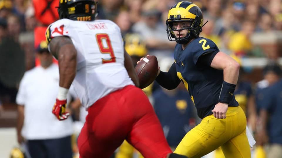 Shea Patterson scramble Michigan football vs Maryland 2018