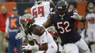 Dolphins' injury-depleted line must try to block Bears' Mack