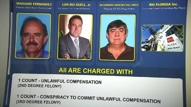 Photos of those arrested in connection with Miami Beach corruption bust