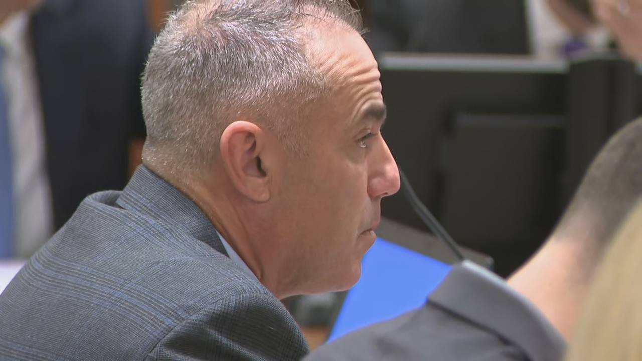 Andrew Pollack in court during protective order hearing