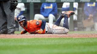 Cole strikes out 11, Diaz homers, Astros win 3-2 at Seattle