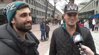 WATCH: Jaguars fans travel from Hawaii to Boston
