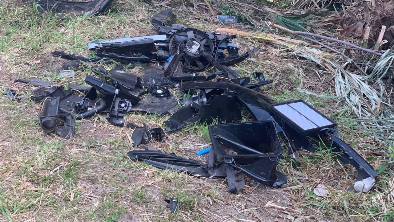 Aftermath of Ponte Vedra crash