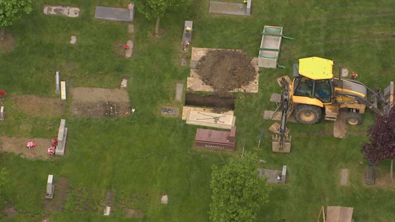 Canton Township cemetery dig aerials 2