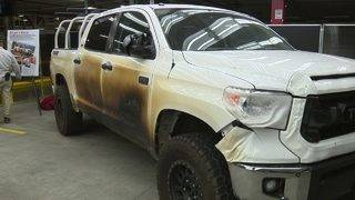 Check out Toyota's famous Tundra 'Marshmallow' that escaped Camp Fire in&hellip&#x3b;