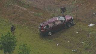 Rollover ends multi-county chase after carjacking in Miami