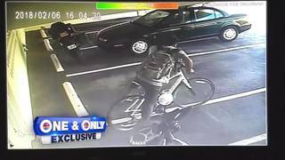 Girl surprised with new bicycle while thief pedals away with mom's bike