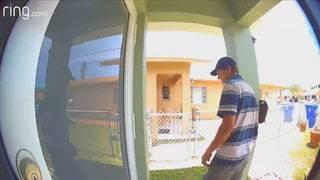 Man sought in 2 Miami home burglaries