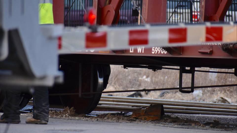 Train off tracks in Detroit 2