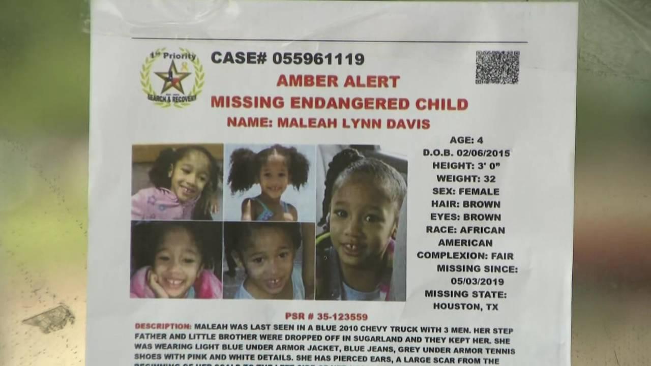 Amber Alert flyer for Maleah Davis 5-8-19