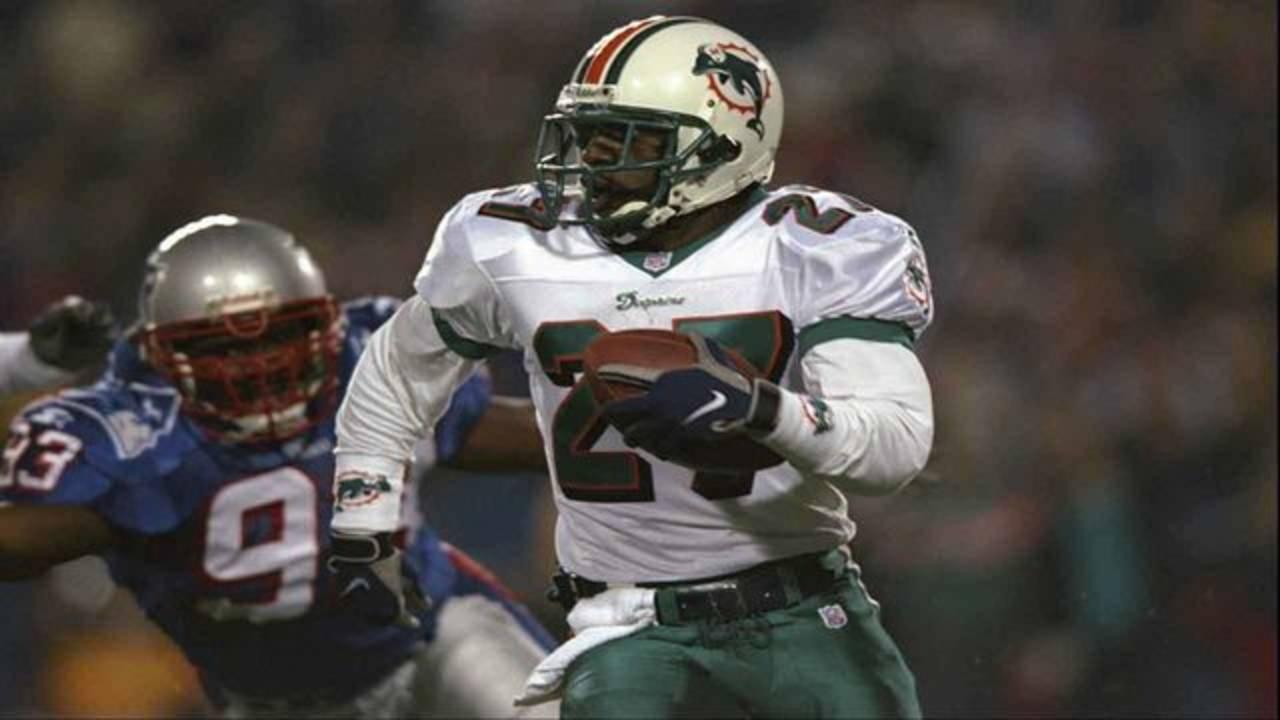 Miami Dolphins cornerback Terrell Buckley vs New England Patriots in 1998