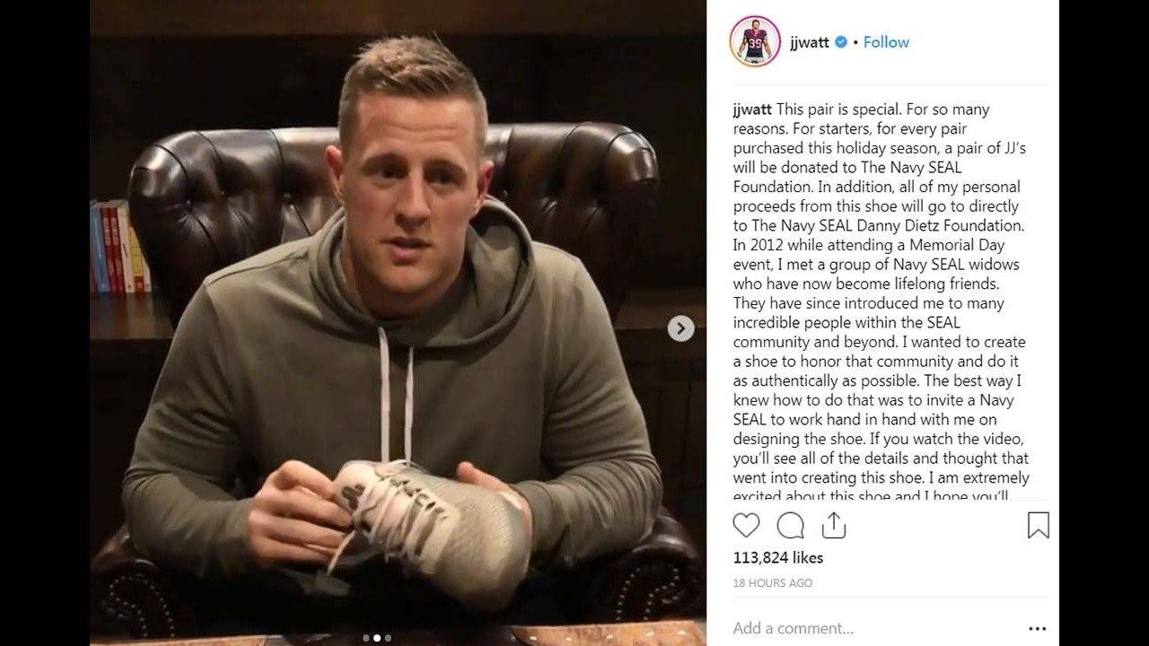 Never Forget   JJ Watt s latest Reebok shoes carry special meaning 6b9530af9