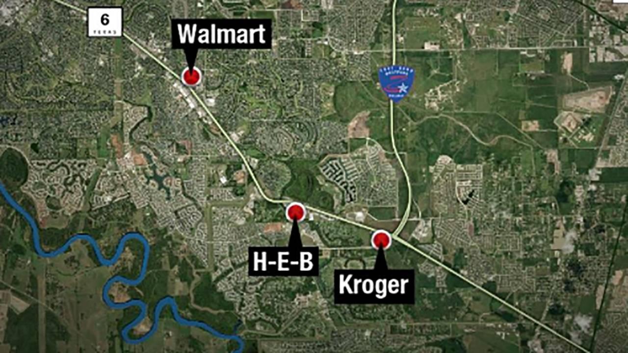 SH 6 burglary locations