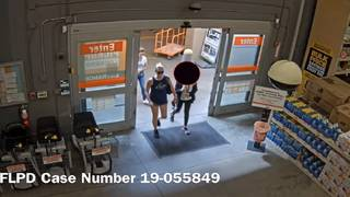 Woman caught on camera stealing man's wallet at Home Depot,