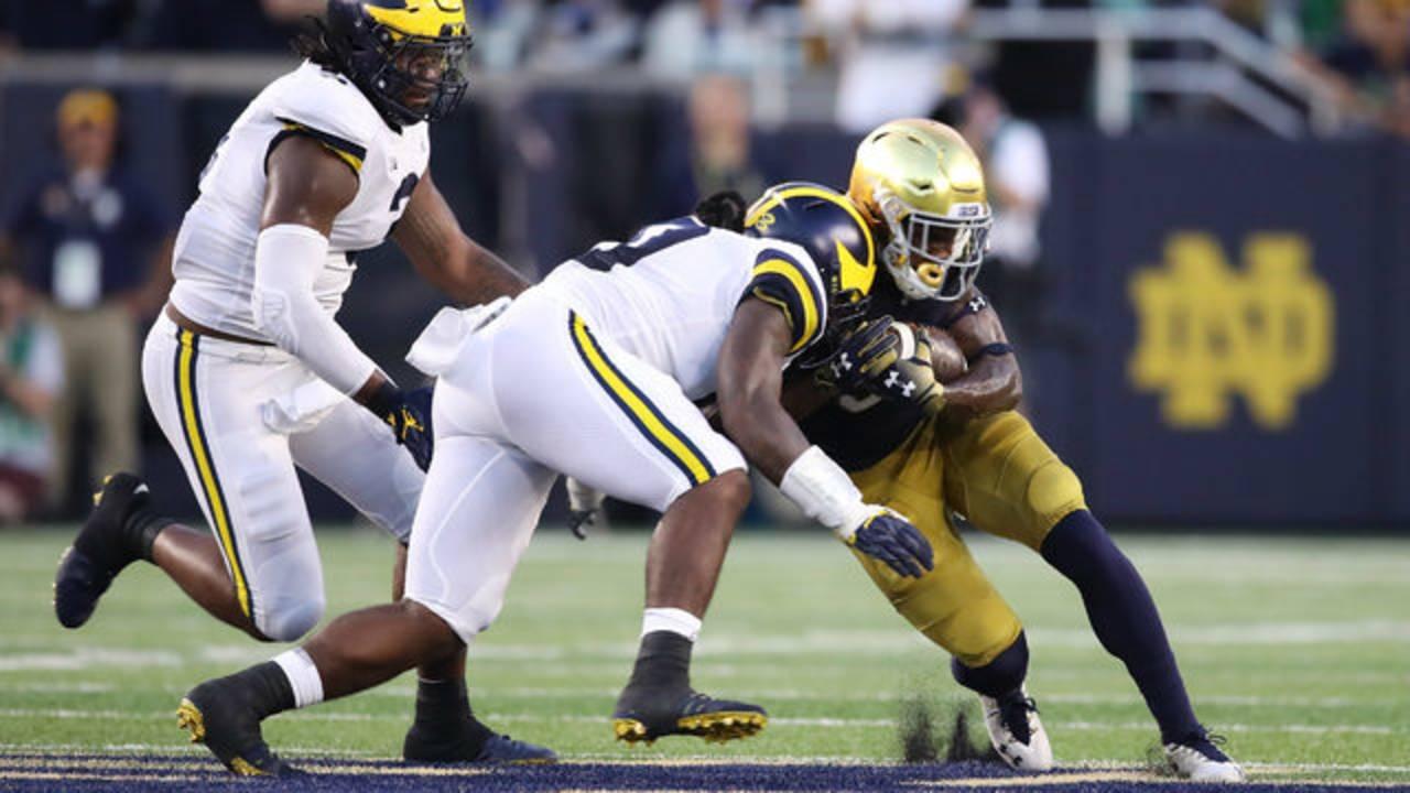 Devin Bush tackle Michigan football vs Notre Dame 2018