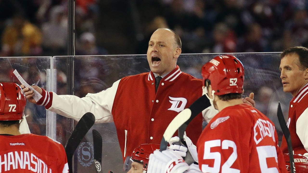 Jeff Blashill Red Wings coach stadium series