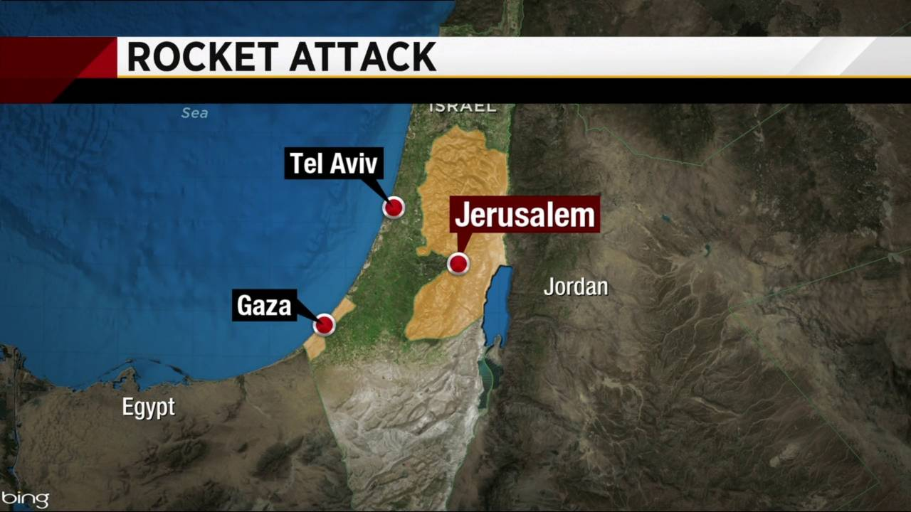 Rocket barrage triggered air raid sirens in Tel Aviv20190314232005.jpg