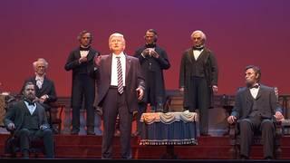 President Donald Trump joins Disney's Hall of Presidents