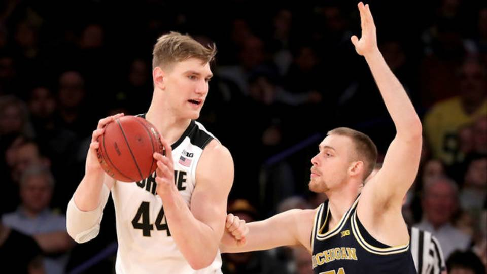 Austin Davis Michigan basketball vs Purdue 2018 Big Ten Tournament championship game