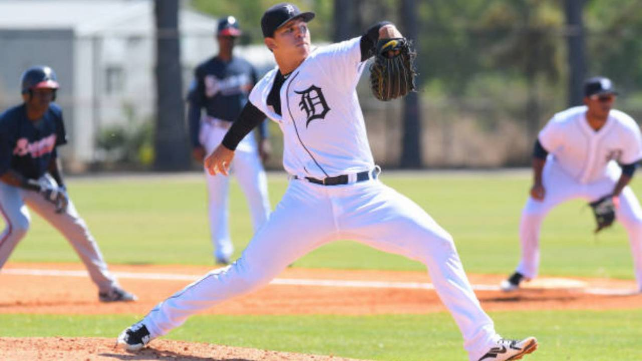 Franklin Perez Detroit Tigers workouts 2018