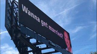 'Wanna get married?' Billboard used as marketing, dating tactic